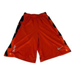 Nike Orange/Black Dri-fit Basketball Shorts Size L